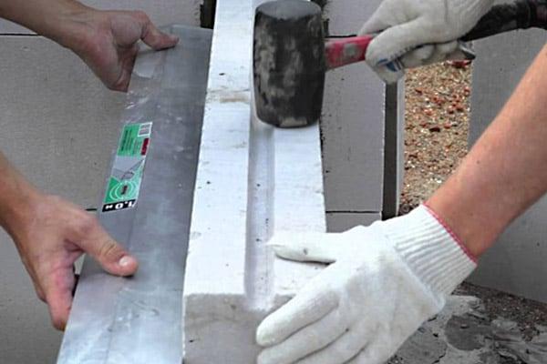 Кладка стен из пазогребневых плит