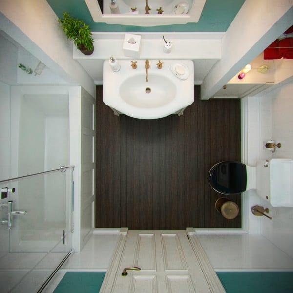 Дизайн ванной комнаты 3х3 метра фото
