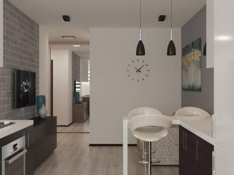 Дизайн интерьера квартиры Харьков (кухня)