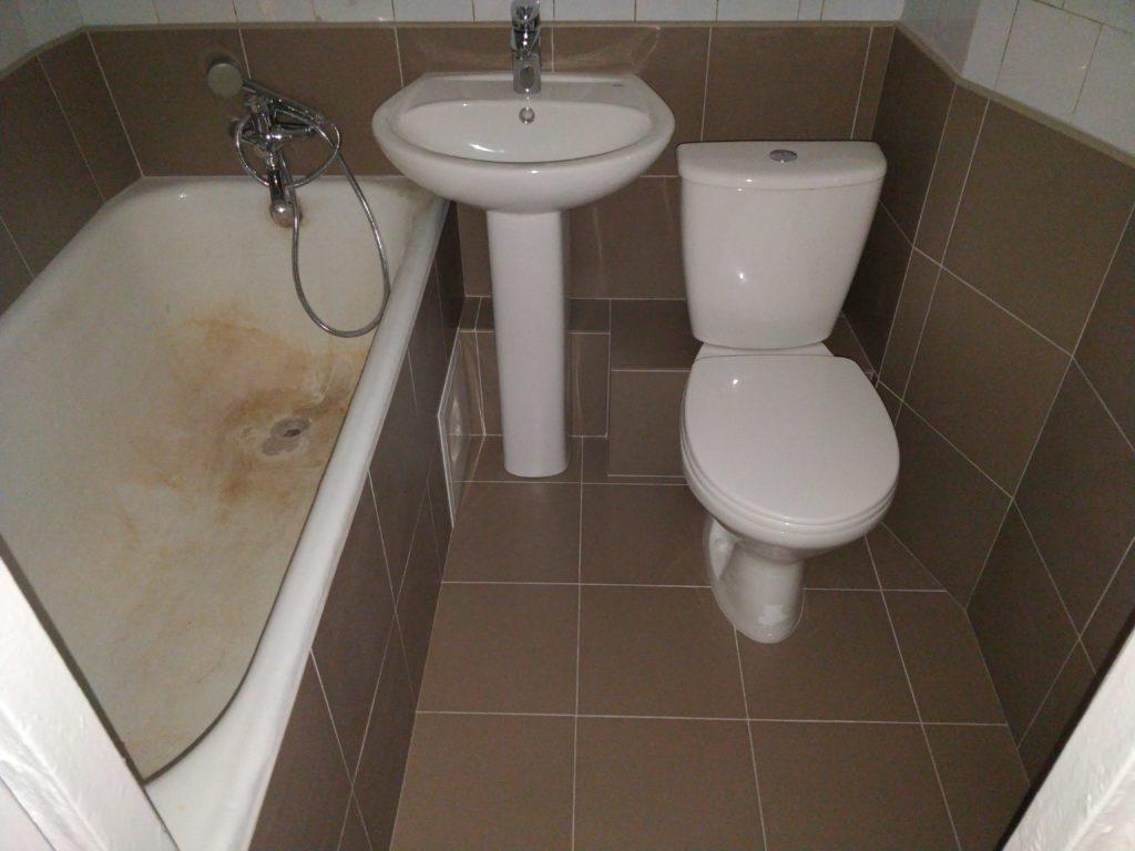 Косметический ремонт в ванной / после