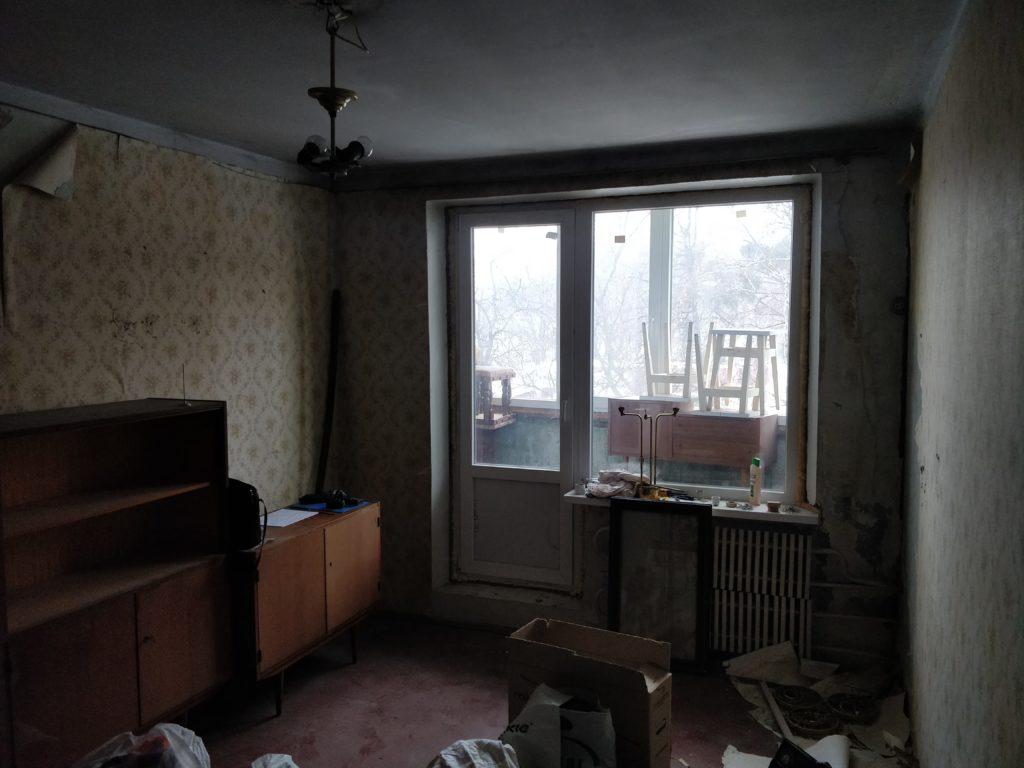 Косметический ремонт в комнате / до