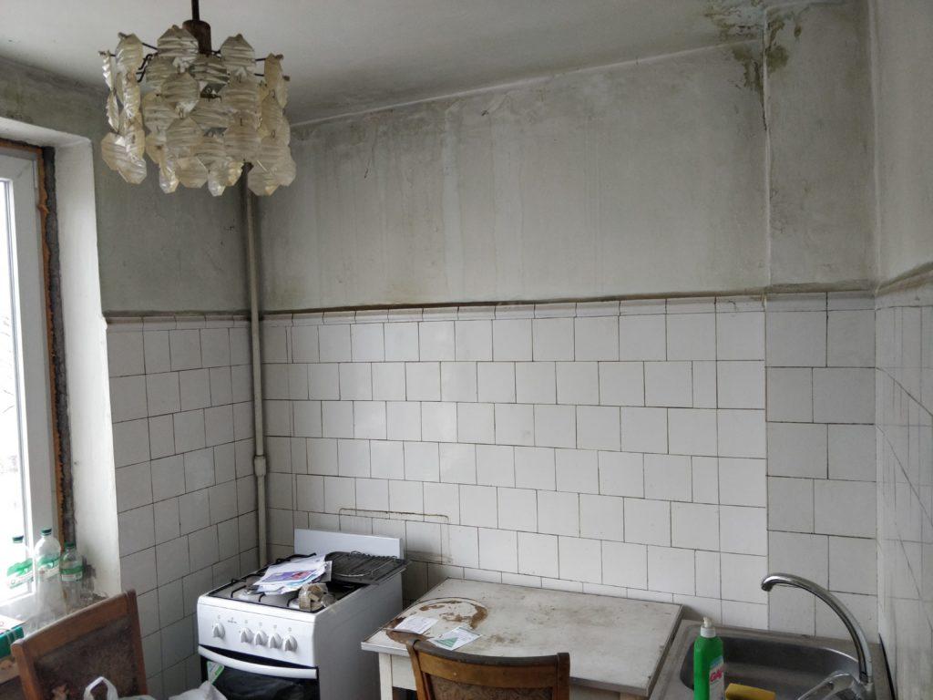 Косметический ремонт в кухне / до
