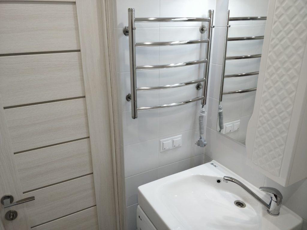 Ремонт ванной комнаты. Монтаж полотенцесушителя