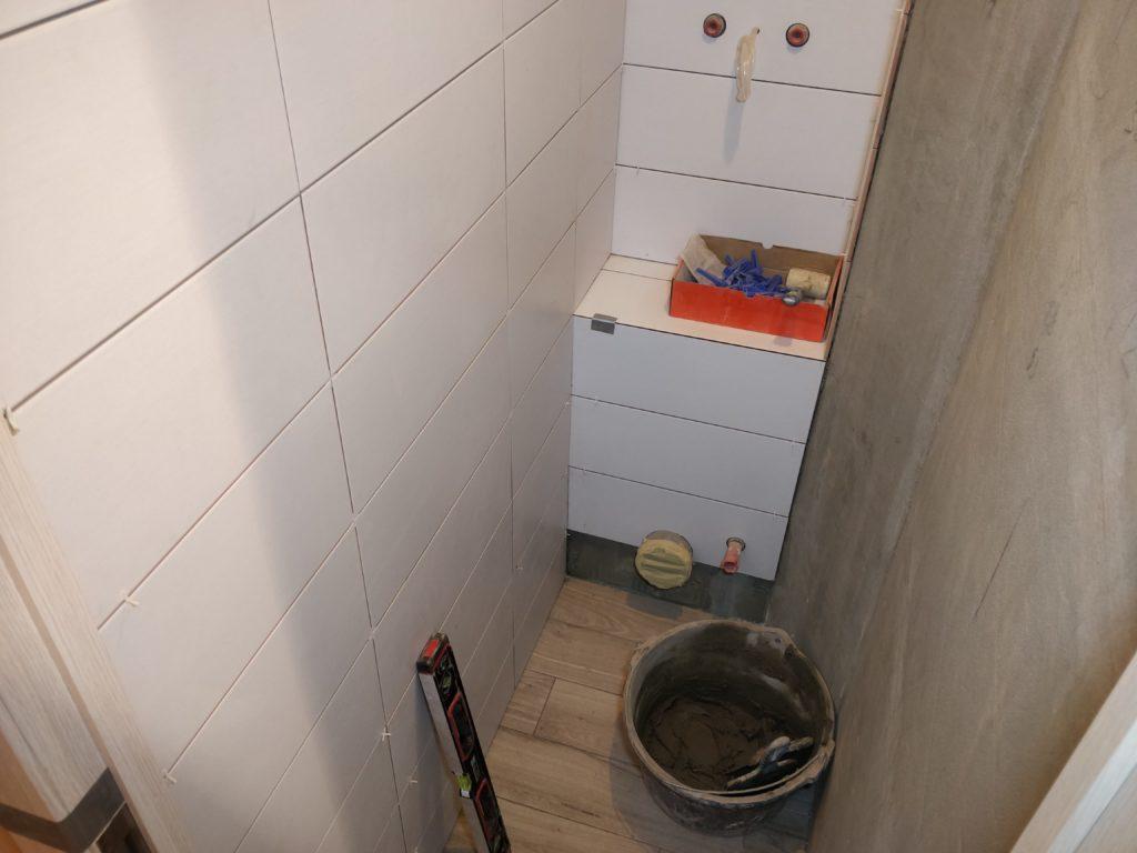 Ремонт ванной комнаты. Укладка плитки