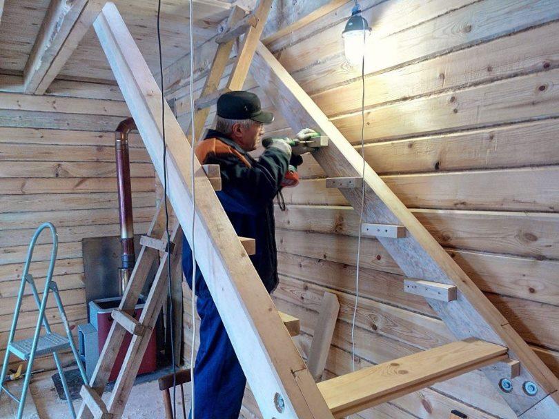 как делать лестницу на второй этаж