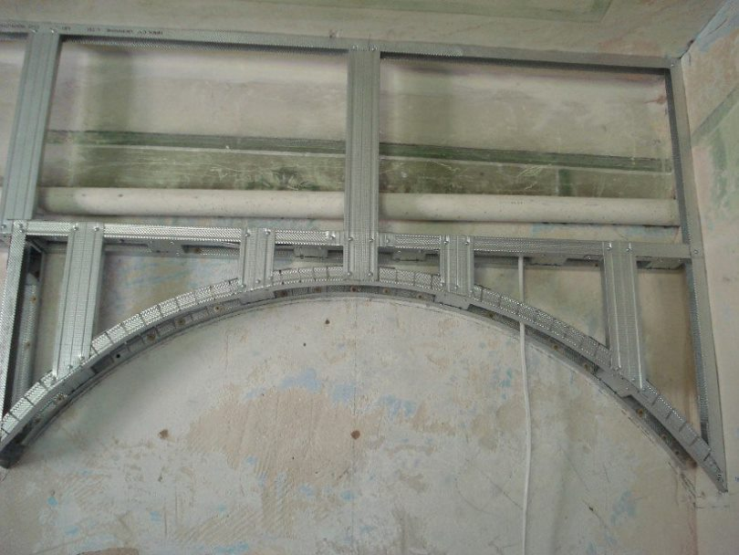каркас дляя арки из гипсокартона
