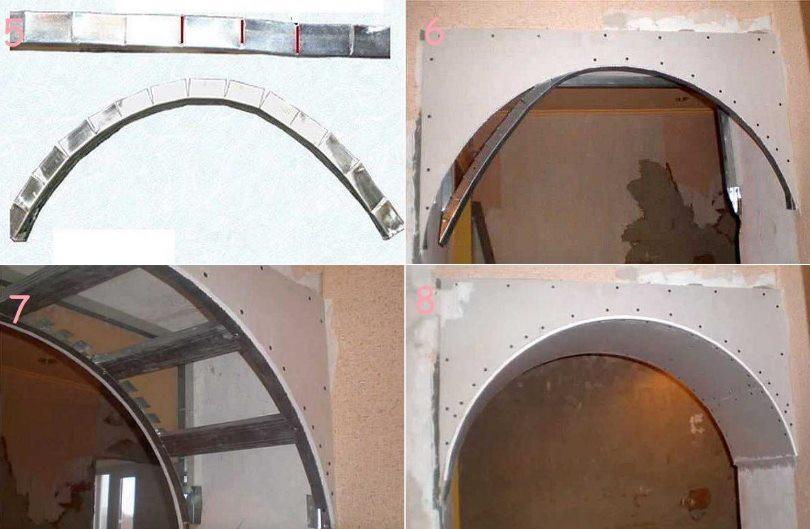 как сделать арку из гипсокартона - инструкция