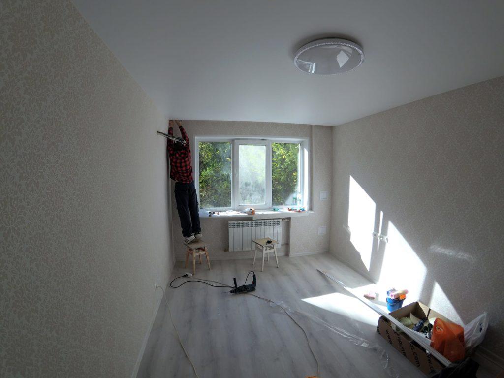 Ремонт двухкомнатной квартиры в Харькове — спальня