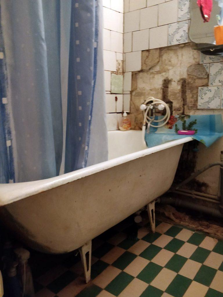 Ремонт в хрущевке — ванная комната (до)