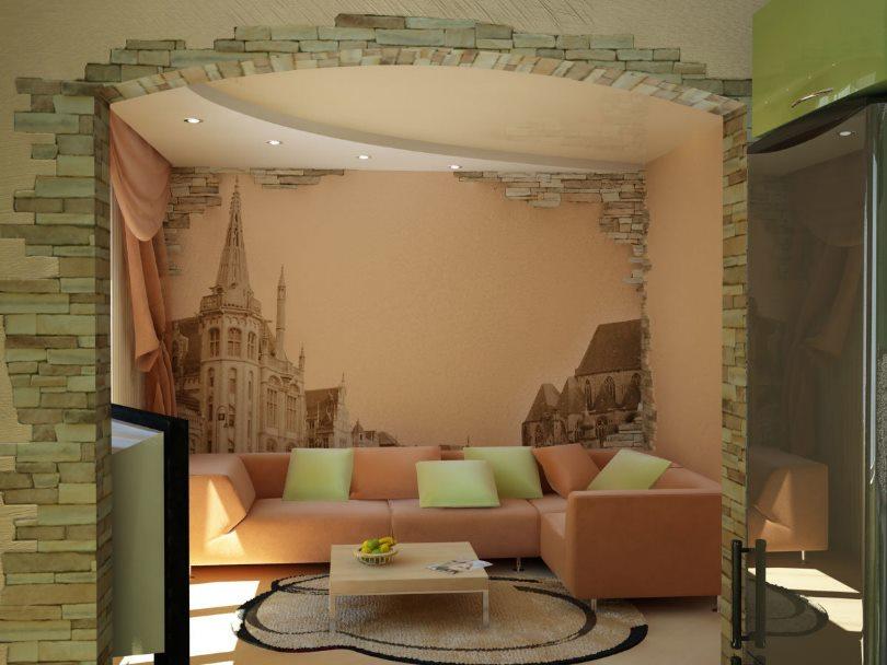 оригинальный интерьер комнаты