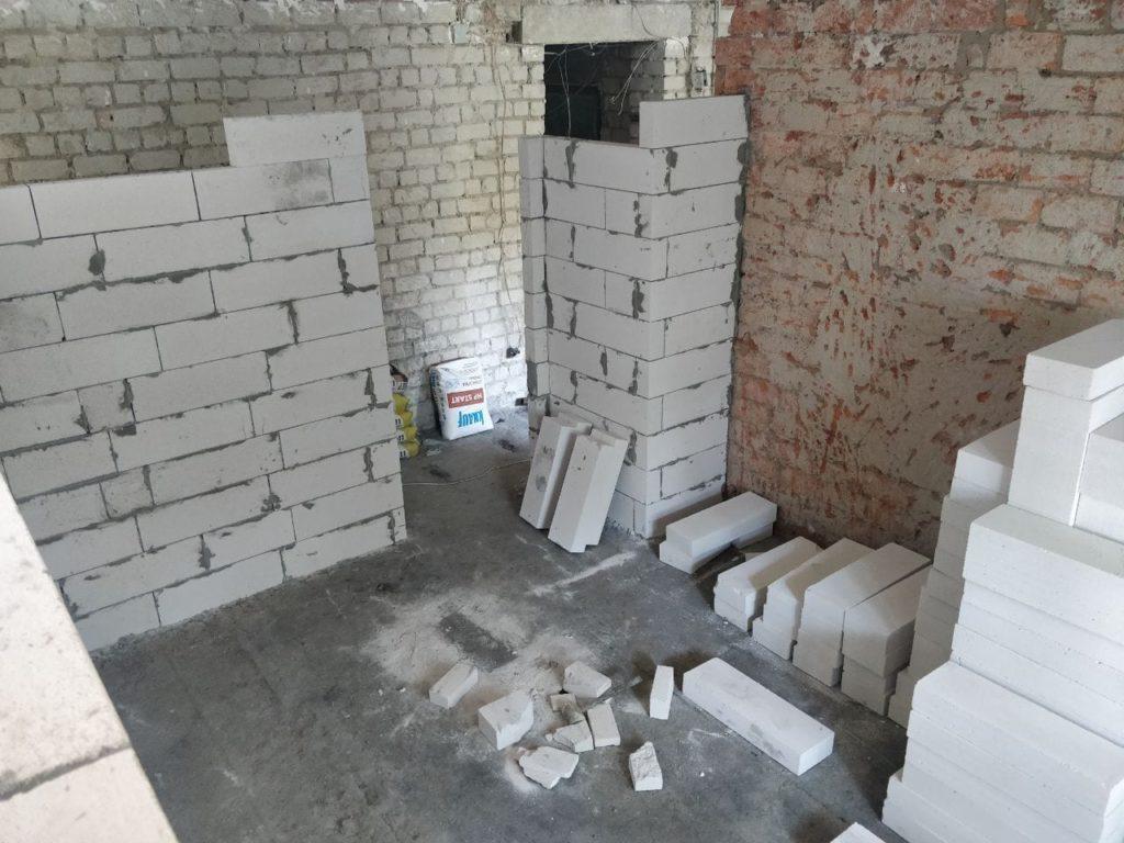 Кладка газоблока и газобетона в Харькове