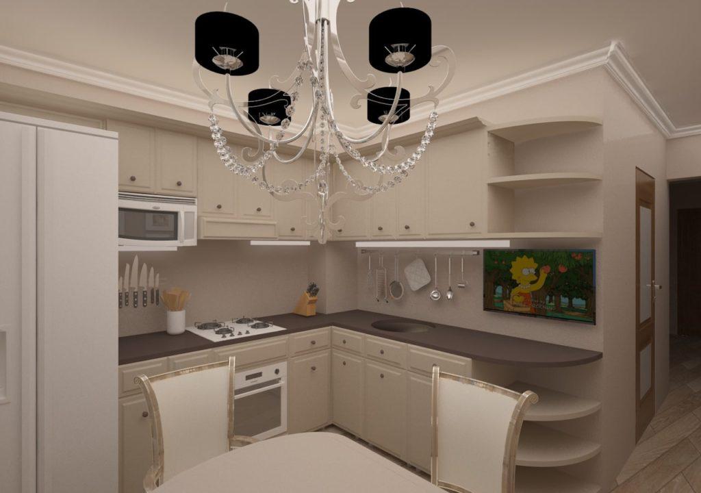 Дизайн интерьера двухкомнатной квартиры - Кухня, прованс