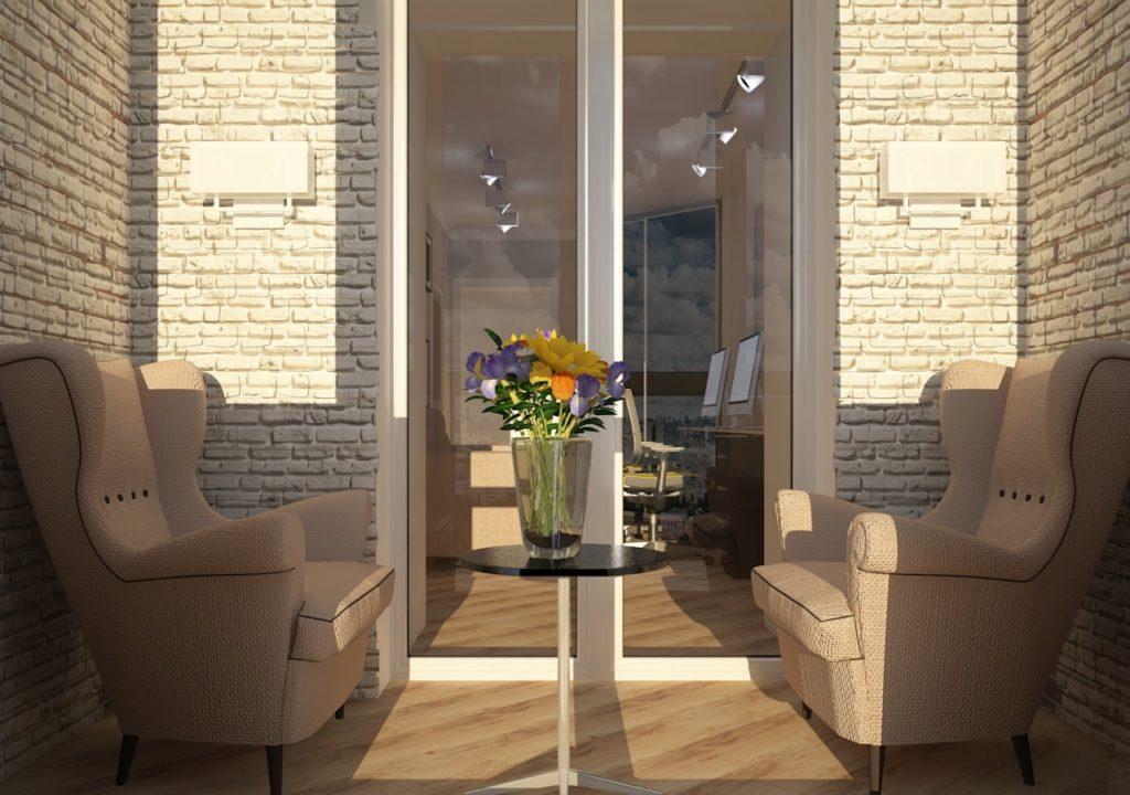 Дизайн интерьера двухкомнатной квартиры - Балкон в современном стиле