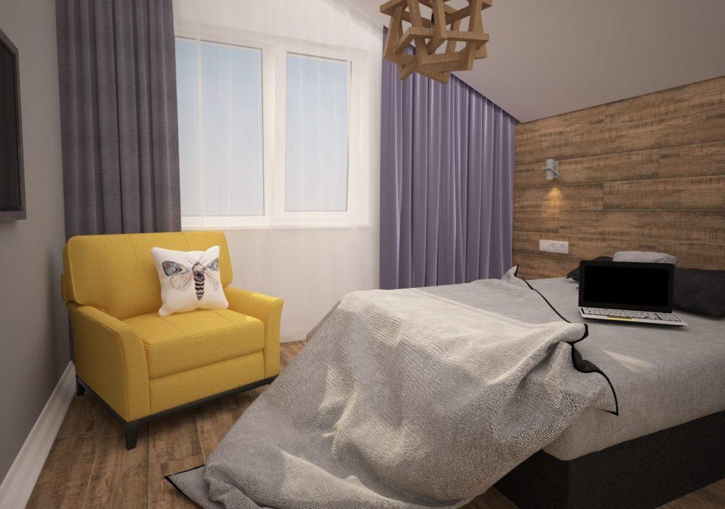 Дизайн интерьера двухкомнатной квартиры - Спальня в современном стиле