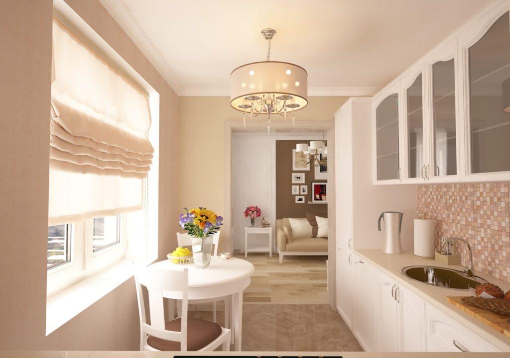 Дизайн интерьера двухкомнатной квартиры - Кухня в классическом стиле