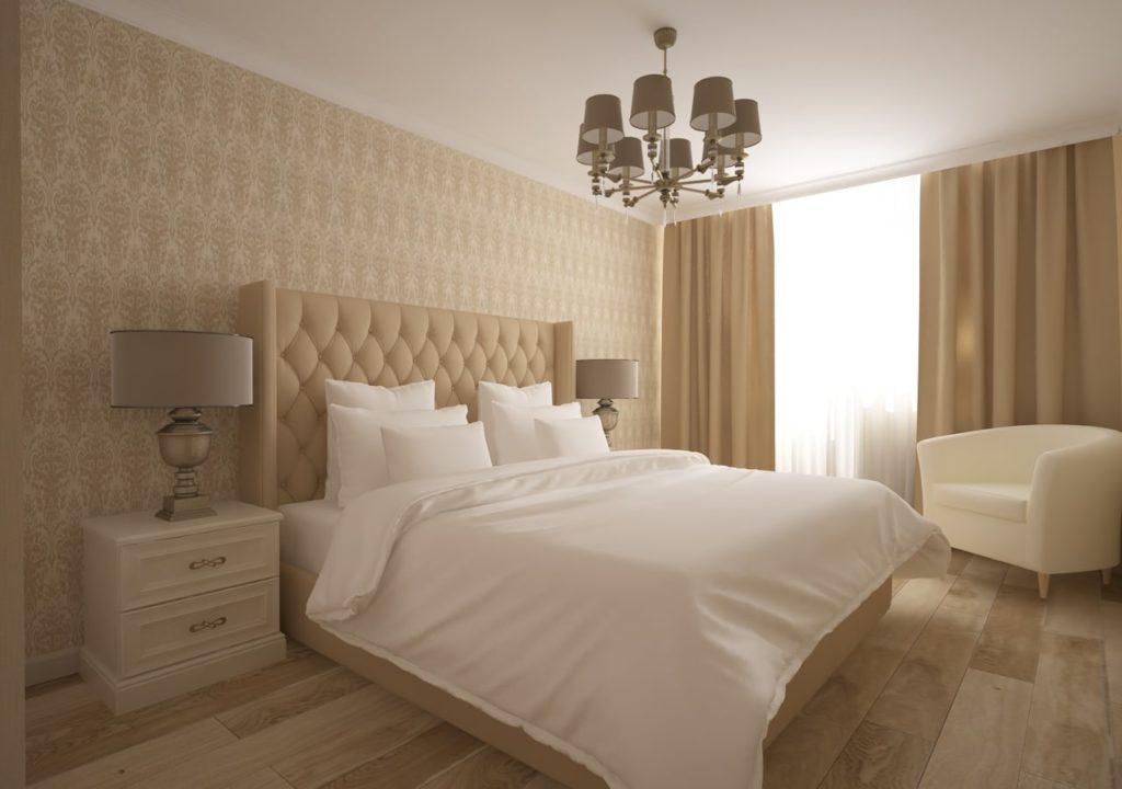 Дизайн интерьера двухкомнатной квартиры - Спальня в классическом стиле