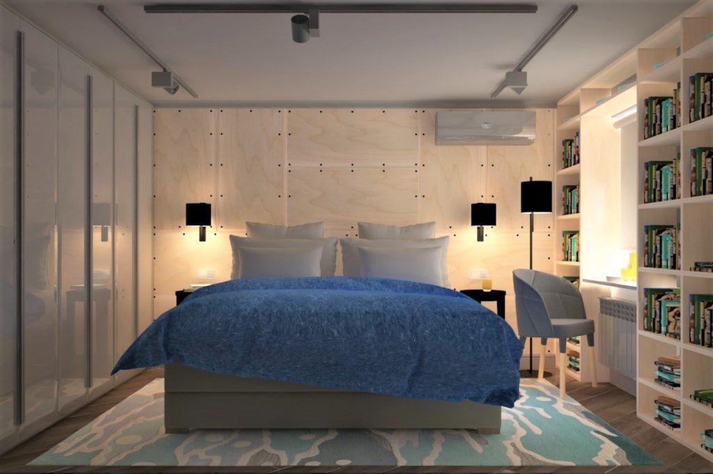 Дизайн интерьера двухкомнатной квартиры - Спальня