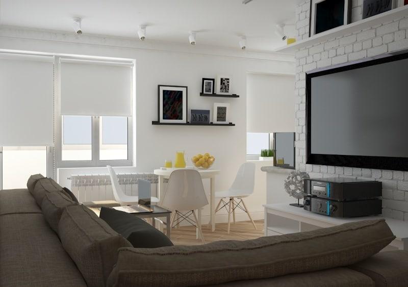 Дизайн интерьера двухкомнатной квартиры - Кухня студия от Trofimov