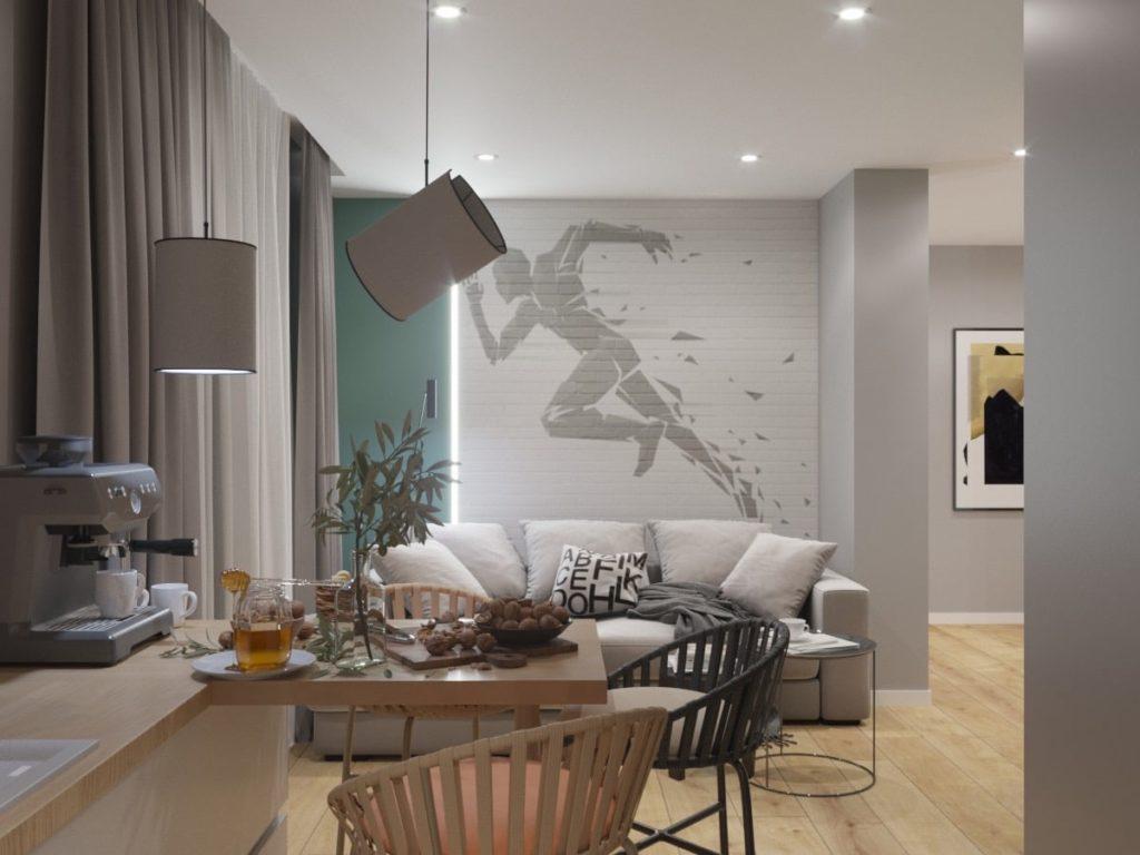 Дизайн интерьера гостинной Харьков