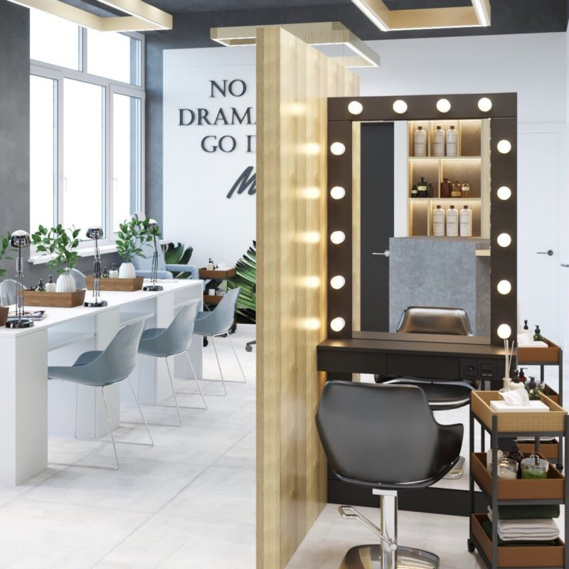 Дизайн интерьера салона красоты Харьков - Trofimov