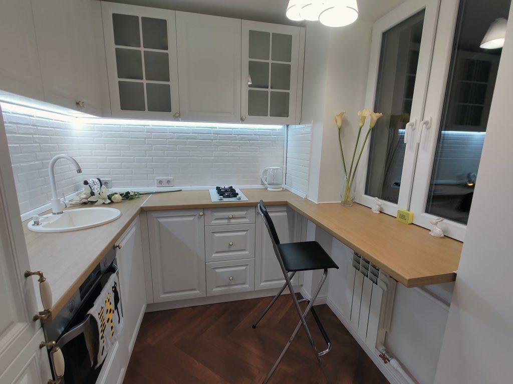 Перепланировка в квартире в Харькове - кухня