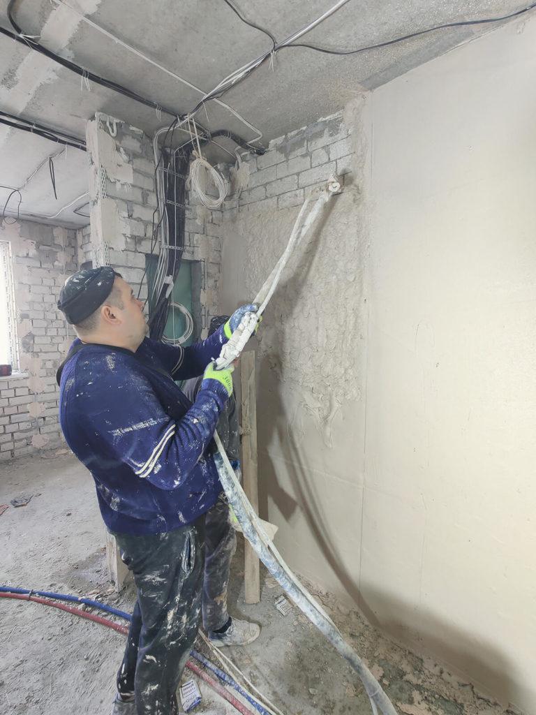 Штукатурка стен машинная Харьков