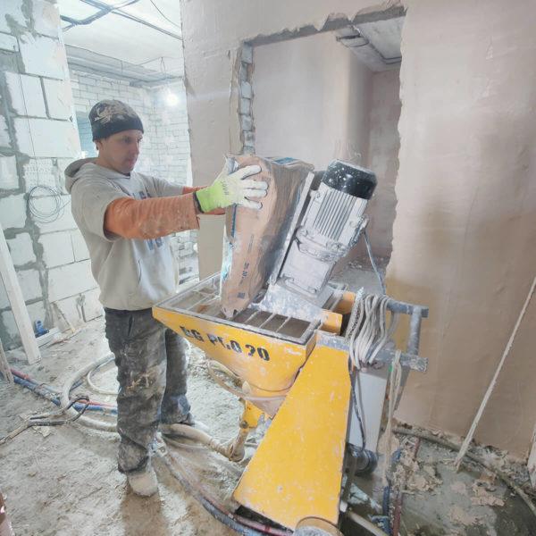 Оборудование для машинной штукатурка стен