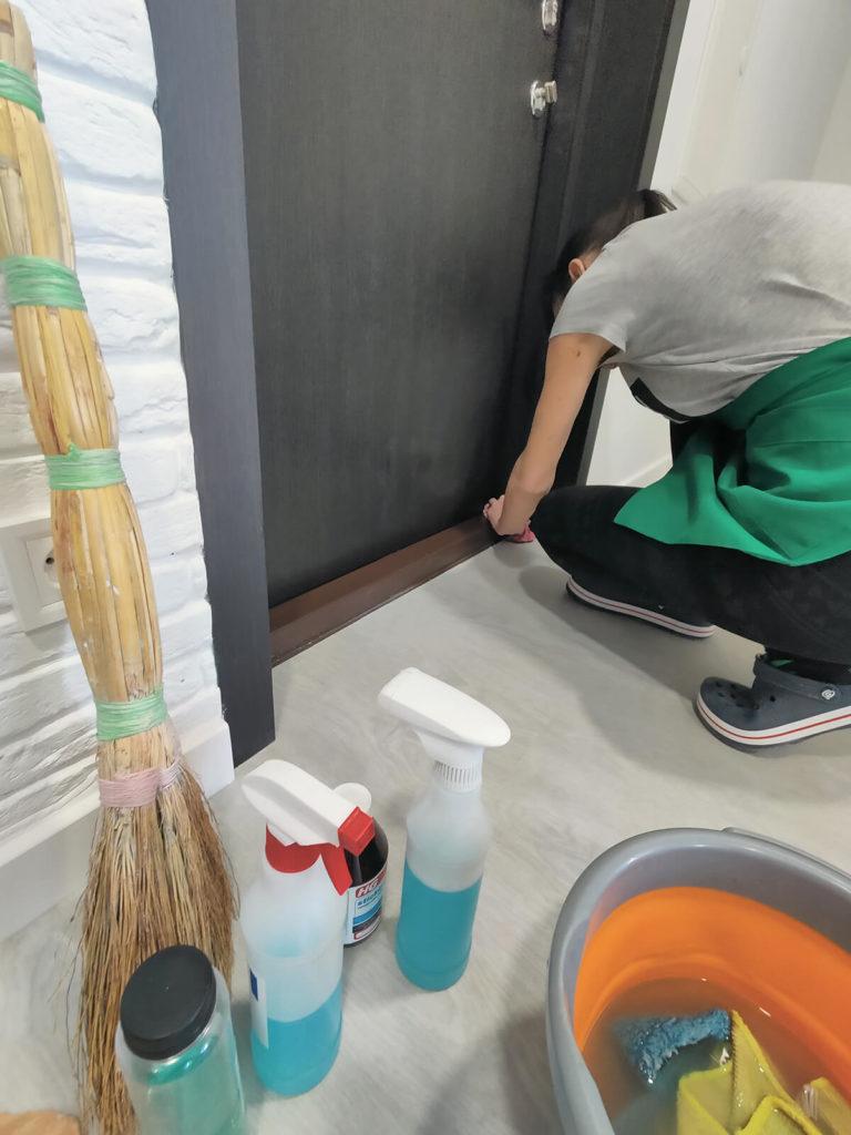 Уборка после ремонта - прихожая