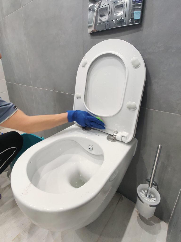 Уборка после ремонта - санузел