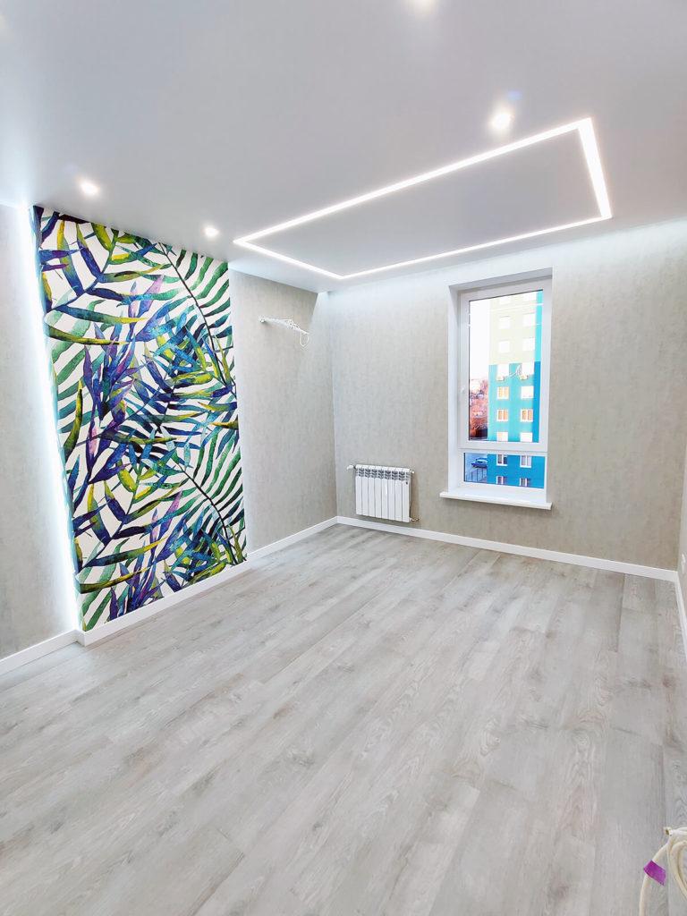 Ремонт в комнате в однокомнатной квартире
