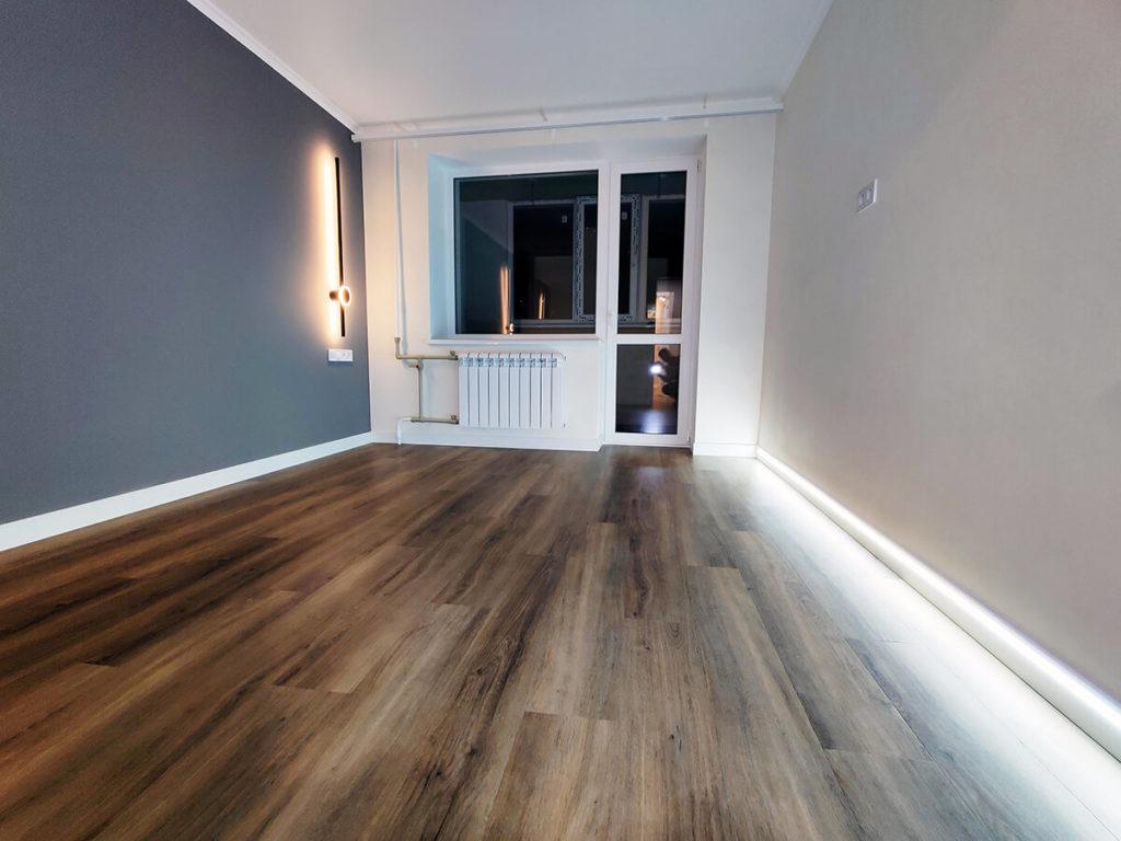 Ремонт комнаты в трехкомнатной квартире