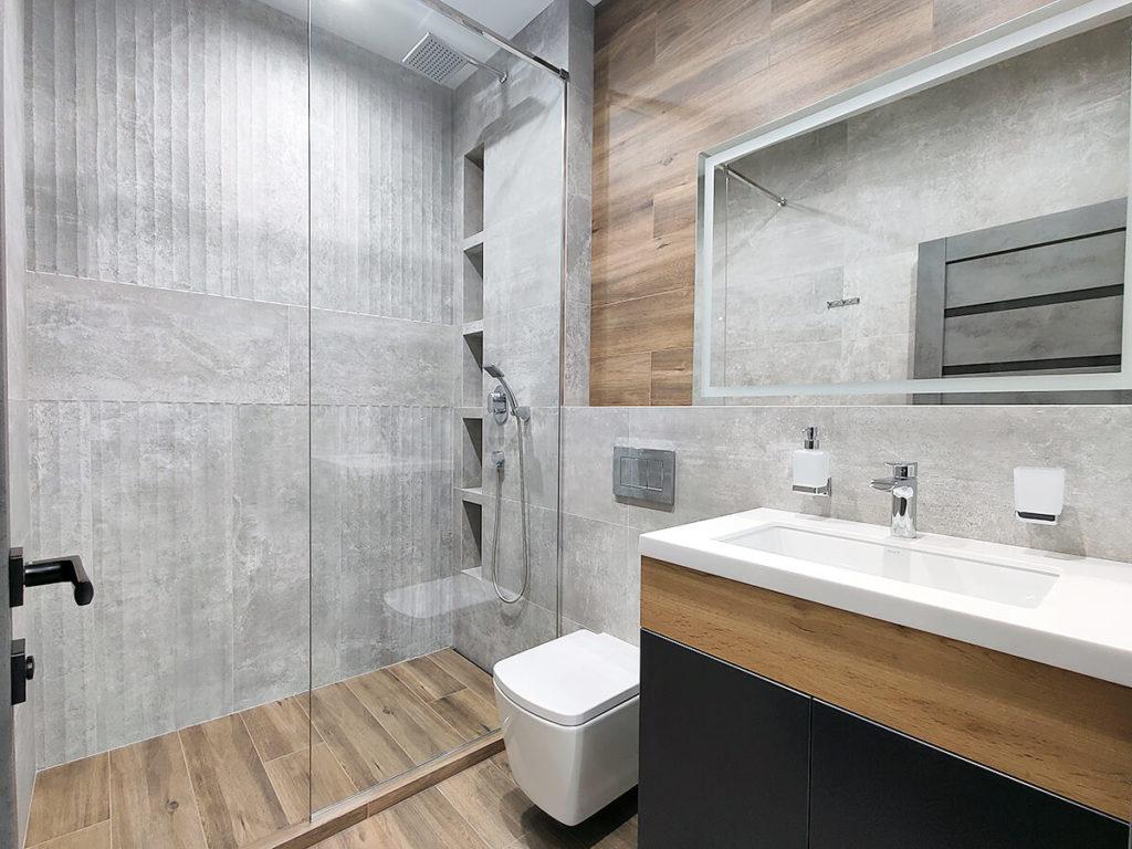 Ремонт в новостройке в ванной комнате